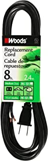 Southwire 4588 SJTW Power Cord Replacement, (8 Foot, 16/2 Gauge, Black), 8-Feet