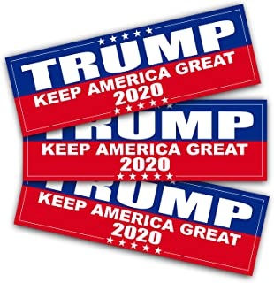 ANLEY 9 X 3 inch Trump 2020 Decal - Car and Truck Reflective Bumper Stickers - 2020 United States Presidential Election (3...