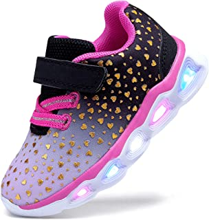 SINOSKY Girls Led Shoes Flashing Light Up Sneakers