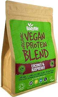 BodyMe Organic Vegan Protein Powder Blend | Coconut Raspberry | 1kg | UNSWEETENED | Low Carb | With 3 Plant Based Vegan Pr...