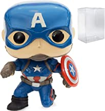 Marvel: Captain America 3 Civil War - Captain America Funko Pop! (GameStop Exclusive) Vinyl Figure (Includes Compatible Pop Box Protector Case)