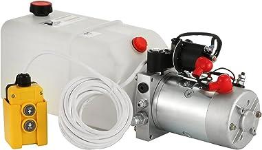 M/étallique Pompe Hydraulique De 4L /à Simple Effet M/étallique Chaneau Pompe Hydraulique Remorque R/éservoir De Carburant En Plastique