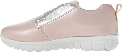 bebe Girls PU Jogger Sneakers Elastic Band Comfort Sporty Slip-On Shoes