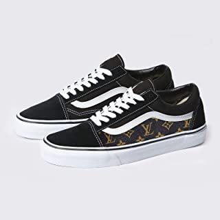 a31783427924d Vans Black Old Skool x Brown LV Custom Handmade Uni-Sex Shoes By Patch  Collection