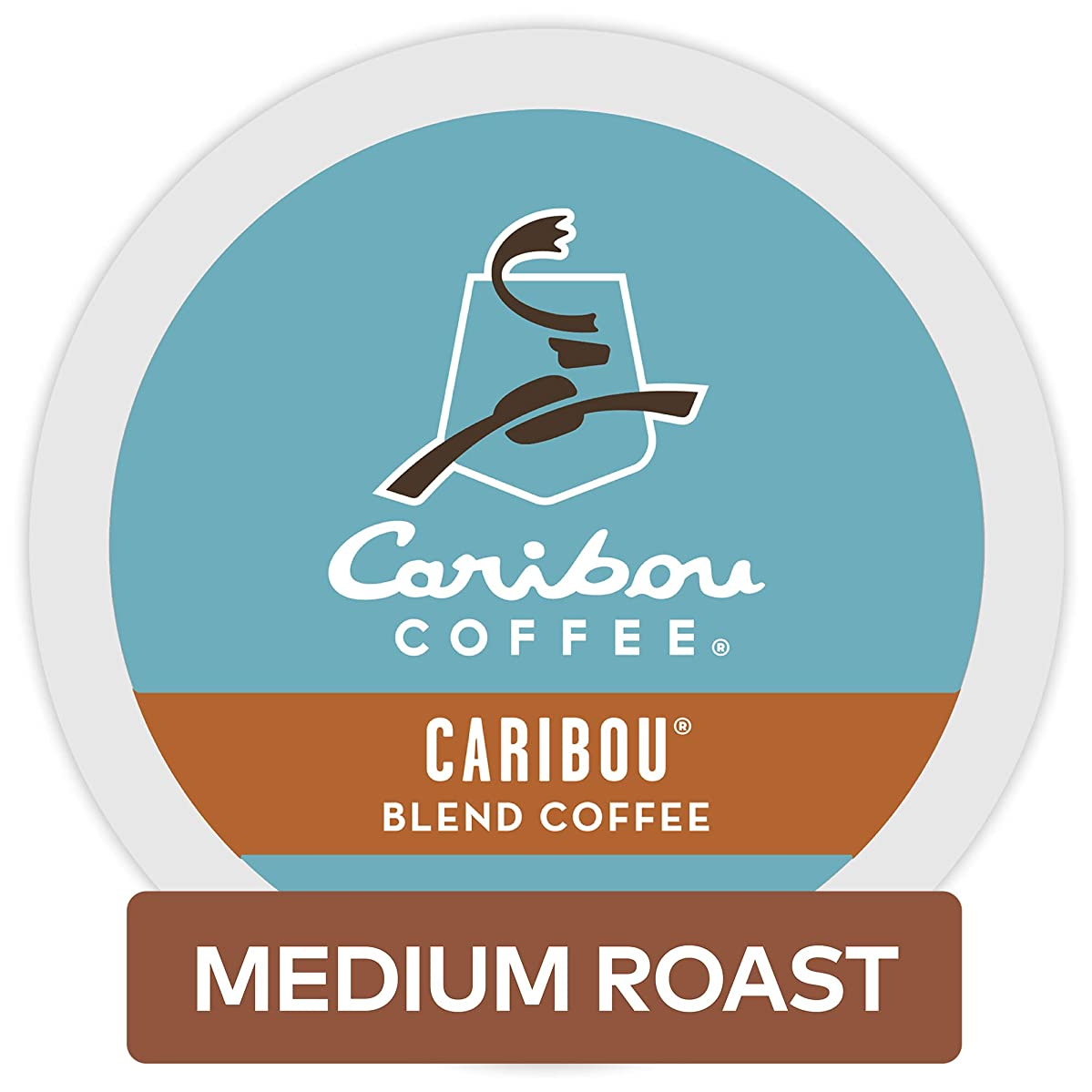Caribou Coffee Caribou Blend, Single Serve Coffee K-Cup Pod, Medium Roast, 12 count, Pack of 6
