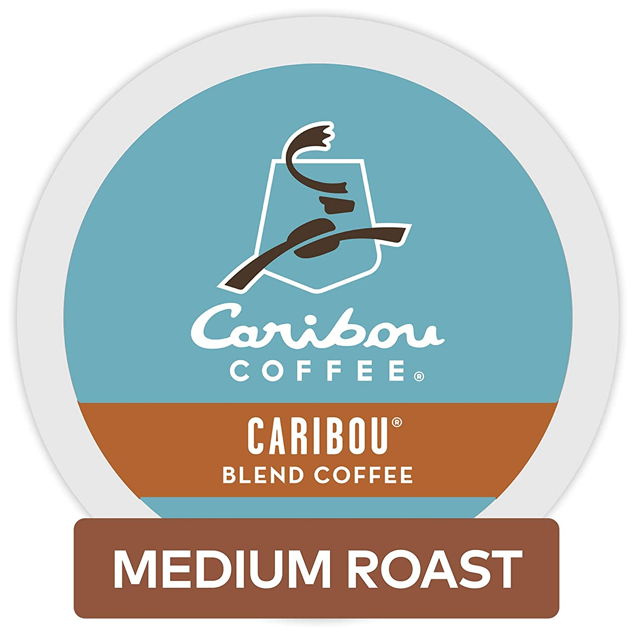 Caribou Coffee Single Serve Coffee K-Cup Pod Medium Roast Coffee, Caribou Blend, 96 Count