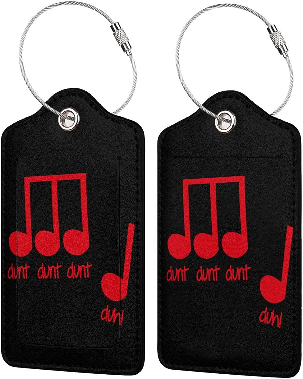 Music Note PU Leather Travel tag Luggage Inexpensive with Privacy Popular products Rectangle