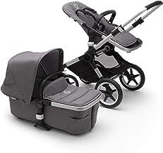 Bugaboo Fox 2 - Cochecito y silla 2 en 1 con un sistema robusto y ligero con suspensión avanzada para todo tipo de terrenos, hasta los 22 kg, con capota gris y base en aluminio