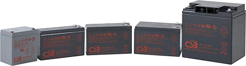 CSB HRL1234WF2FR - 12 Volt/9 Amp Hour (34 Watts) Sealed Lead Acid Battery with 0.250 in. Fast-on Terminals Flame Retardant