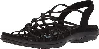 Skechers Women's Reggae Slim-Forget Knotted Web Gore Open Toe Slingback Sandal