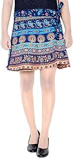 Indian Dresses Store Rajvila Rajasthani Wrap Around Skirt for Women Mini for Skirt P3 Turquoise
