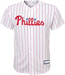 Youth Hoskins Phillies Home Replica Jers White/Pin YM