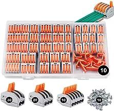 Conectores eléctricos rapidos 80 piezas, estancos Conectores de cableado de cables Kits de bloque de terminales con soport...