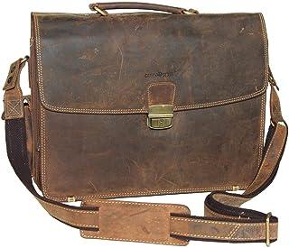 Greenburry VINTAGE 1718-25 Leder Lehrertasche | Aktentasche | für 15.4 Notebooks