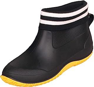 Zapatos de Lluvia para Mujer Hombres Impermeable Zapatos de Jardin Antideslizante Botines de Goma de Trabajo Calentar Bota...