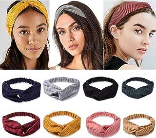 Boho Headbands for Women Non Slip Twist Hair Bands for Short & Long Hair Criss Cross Elastic Twisted Head Wrap Knotted Hai...