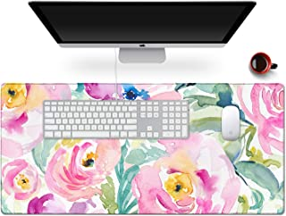 """Anyshock Desk Mat, Extended Gaming Mouse Pad 35.4"""" x 15.7"""" XXL Keyboard Laptop Mousepad with Stitched Edges Non Slip Base,..."""