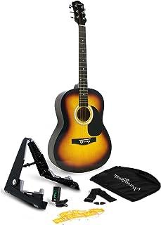 Best Martin Smith 6 Acoustic SuperKit Stand, Tuner, Bag, Strap, Picks, and Guitar Strings, Sunburst (W-101-SB-PK) Review