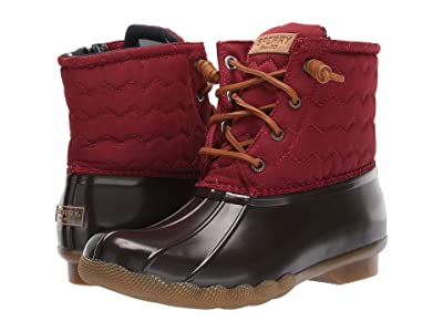 Sperry Saltwater Chevron Quilted Nylon (Wine) Women