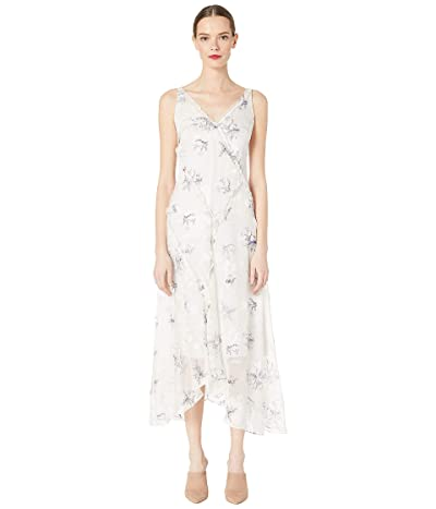 Jason Wu Winter Floral Clip Jacquard V-Neck Dress (Pale Quartz) Women