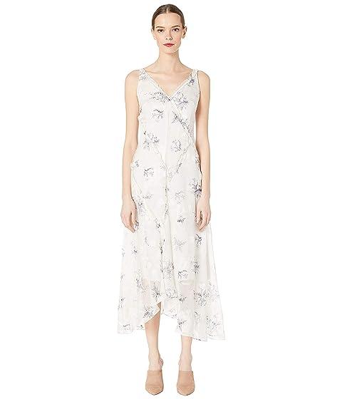 GREY Jason Wu Winter Floral Clip Jacquard V-Neck Dress