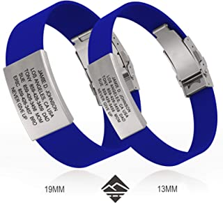 ROAD iD Bracelet - Premium ID Wristband - Silicone Clasp Identification Bracelet and Sport ID for Athletes
