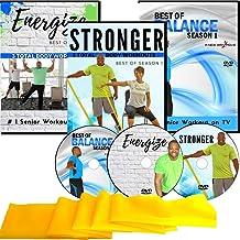 تمرین برای دی وی دی های سالمندان ، فصل 1 مجموعه- 6 تمرین کل بدن + 10 تمرین تعادل اکسپرس + باند مقاومت- پیگیری آسان. جالب است! این دی وی دی های تمرینی را برای سالمندان دوست خواهید داشت!