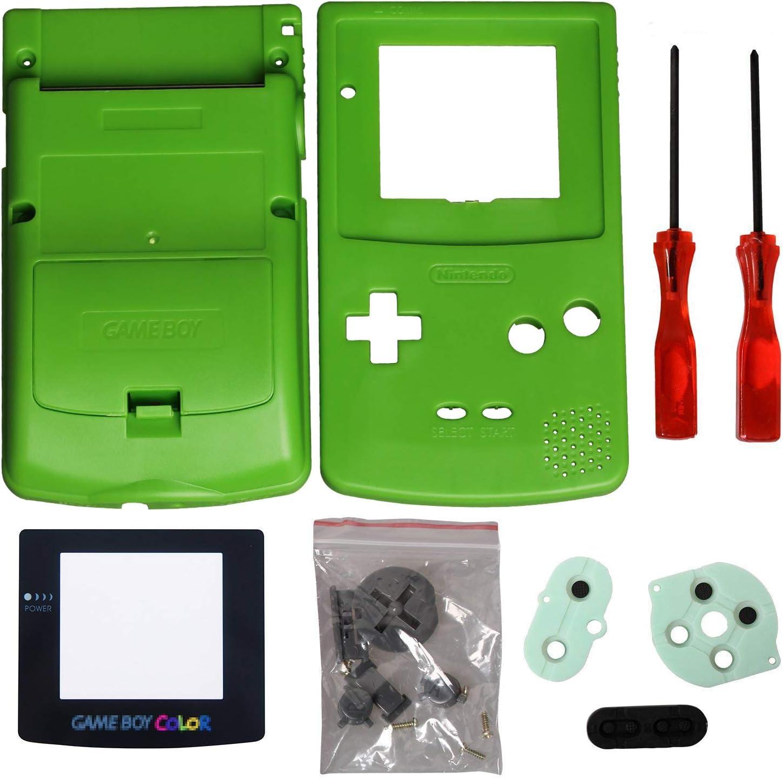 Timorn Completo Vivienda Shell Case Cover Reemplazo para GBC Gameboy Color (Verde)