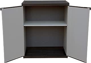 Adventa - Armario bajo de Resina con estantes de 2 Puertas (