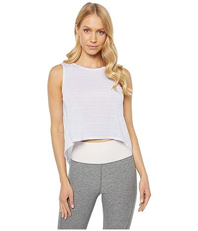 PUMA Studio Crop Lace Tank Top (PUMA White) Women