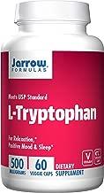 Jarrow Formulas L-Tryptophan, for Relaxation, Positive Mood & Sleep, 500 mg, 60 Veggie Caps