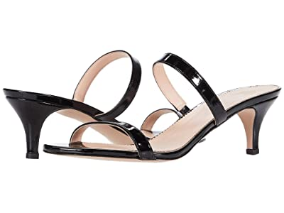 J.Crew Patent Multi Strap Kitten Heel Sandal (Black) High Heels