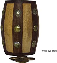 THREE EYE STORE Decorative Antique Hand Crafted Wooden Money Bank Safe Piggy Bank for Girls & Boys (Pine Wood)