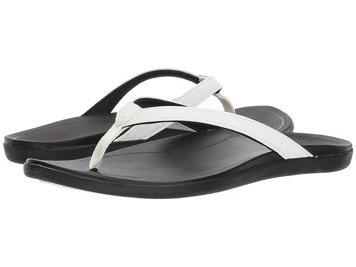 Ho'opio  Shoes (White/Onyx) Women's Sandals