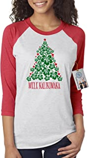 Custom Apparel R Us Christmas Vacation Mele Kalikimaka Womens 3/4 Sleeve Shirt