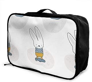 Yunshm Safari Animals Watercolor Pattern Trolley Handbag Waterproof Unisex Large Capacity For Business Travel Storage