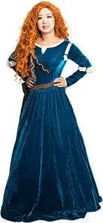 DAZCOS US Size Adult Brave Princess Cosplay Costume and Quiver