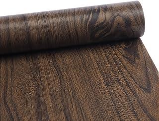 [アグロス] 壁紙 シール クロス 木目 ふすま 襖 紙 天井 45cm * 10m (木目調 ヴィンテージ ブラウン)