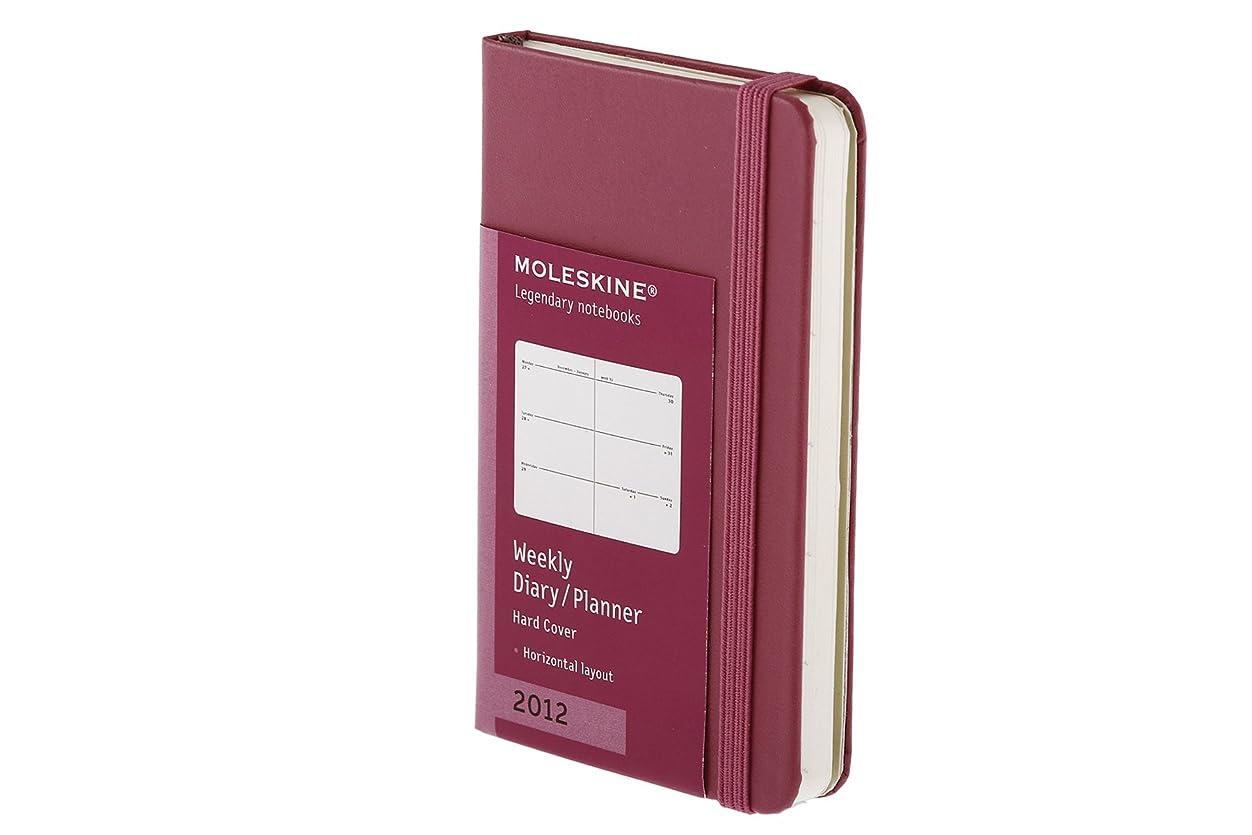 再現するチューブエステートMoleskine 2012 12 Month Weekly Planner Horizontal Magenta Hard Cover X-Small (Moleskine Legendary Notebooks (Calendars))