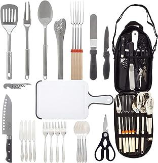 ANBrethren Portable Camping Kitchen Utensil Kit 31...