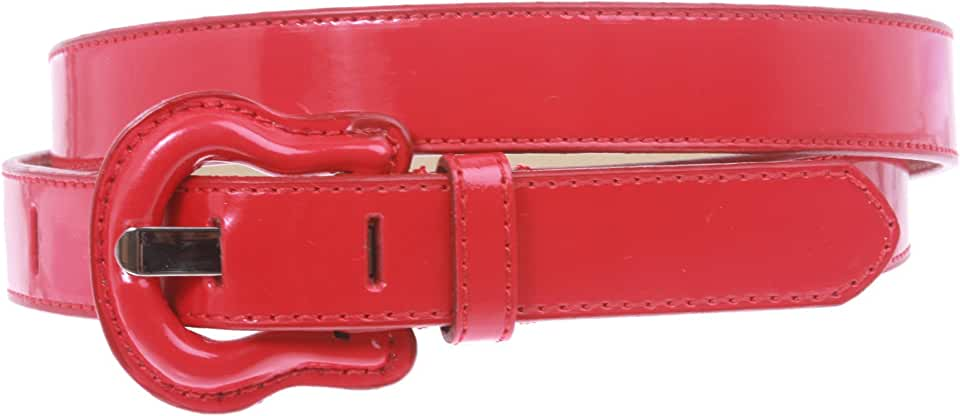 "1"" Western Buckle Patent Leather Fashion Belt"