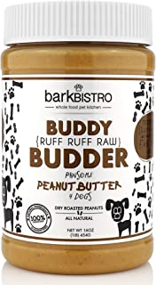 Bark Bistro Company, Ruff Ruff Raw Buddy Budder, 100% Natural Dog Peanut Butter, Healthy Peanut Butter Dog Treats, Stuff in Toy, Dog Pill Pocket, Made in USA, (16 Jars)
