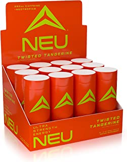 NEU Extra Strength Energy Shots, Pre Workout Energy Drinks Nootropics Brain Support Supplement, Zero Carb, Zero Calorie, Z...