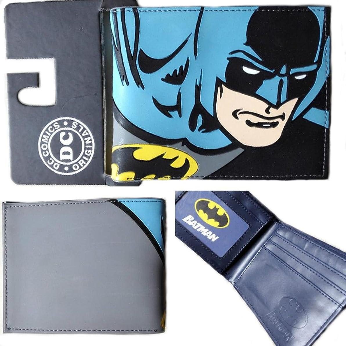 既婚供給給料DC Comics Batman二つ折りメンズBoys Wallet w /ギフトボックスby Athena