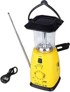 Woputne 防災ラジオ ラジオライト キャンプライト 多機能 手提げ式 LEDランタン 緊急用 2つのライト 4つの充電方法 非常用照明器具 停電対応 SOS警報 地震 津波 台風