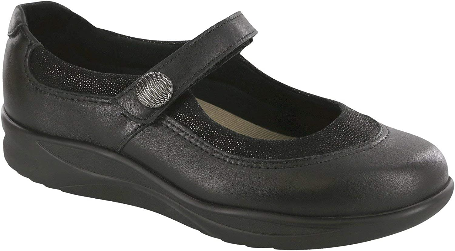 SAS Womens Step Out Leather Closed Toe Mary Jane Flats