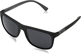 EA4079 504287 Matte Black EA4079 Square Sunglasses Lens Category