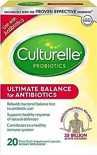 Culturelle Ultimate Balance Probiotic for Antibiotics | Use with Antibiotics | Once per Day | Contains 100% Lactobacillus rhamnosus GG | Restores Good Bacteria Lost to Antibiotic Use* | 20 Count