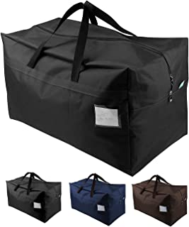 iwill CREATE PRO 100L Large Halloween Ornament Tote Bag, Large Zip Shopping Bag, Compatible with IKEA Frakta Carts, Black