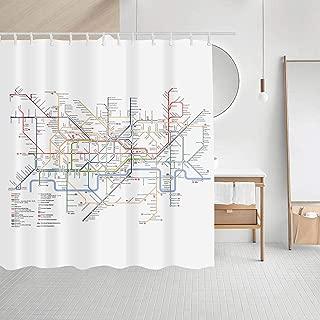 Best boston subway shower curtain Reviews